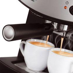 IMAGEM 2: CAFETEIRA EXPRESSO MONDIAL COFFEE CREAM PREMIUM - PRETA E PRATA