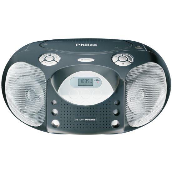 R�DIO PORT�TIL PHILCO PB120N - FM - CD - MP3 - USB - 10W RMS