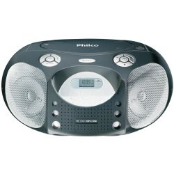 IMAGEM 1: R�DIO PORT�TIL PHILCO PB120N - FM - CD - MP3 - USB - 10W RMS